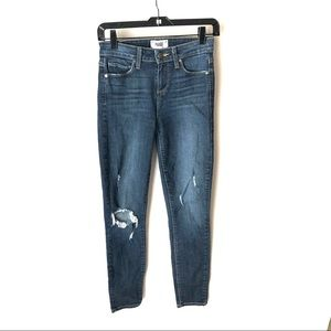 Paige 26 Hoxton Ankle Distressed Jeans
